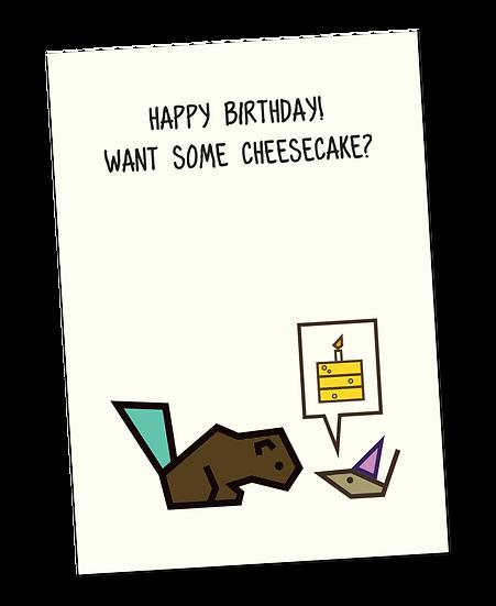 Ansichtkaart: Happy birthday!