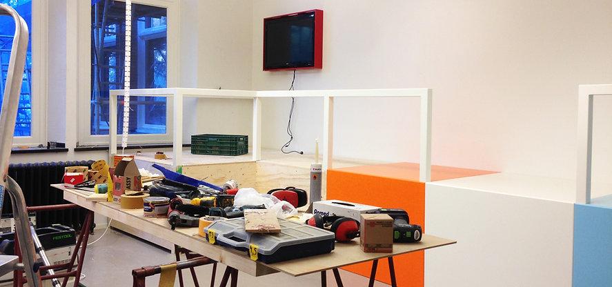 Opbouw Gamelab Science Centre Delft Peerdrops