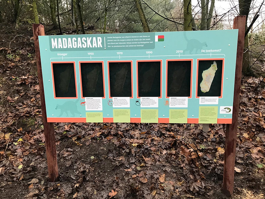Sign Madagascar ZooParc Overloon