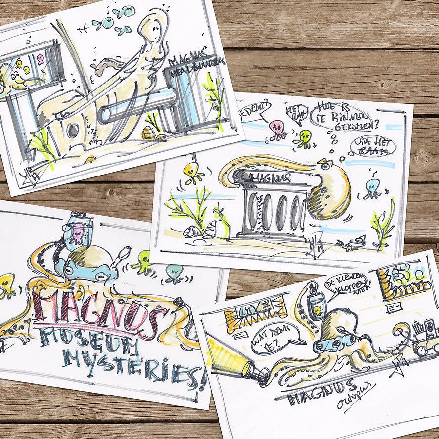 Karakter schetsen Magnus Museum Mysteries Peerdrops