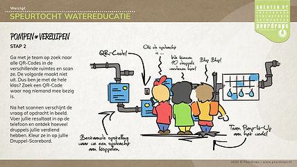 Dordrecht Weizigt kinderboerderij speurtocht watereducatie QR scanographic snorkel pompen of verzuipen