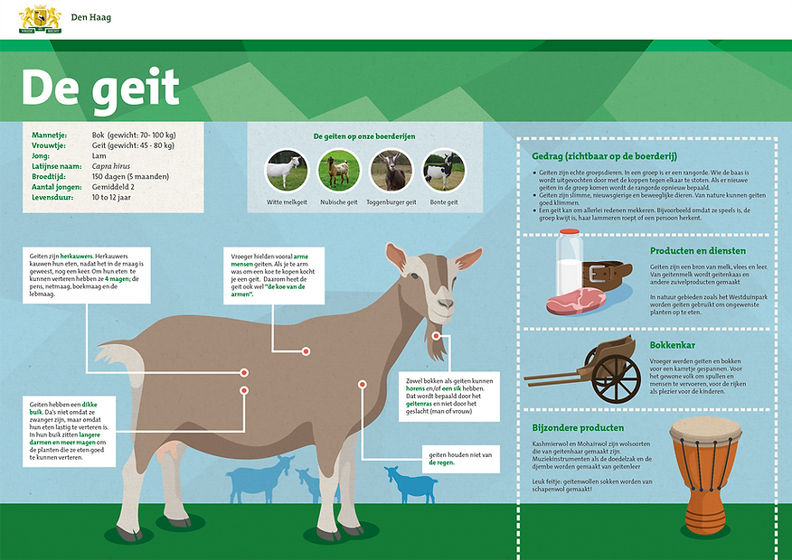 Den Haag boerderijdieren borden