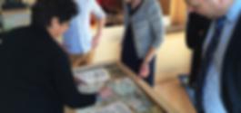 Staatsbosbeheer touchtafel Peerdrops Opening Buitencentrum