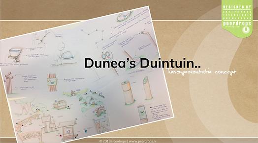 Conceptschets Dunea Duincampus objecten