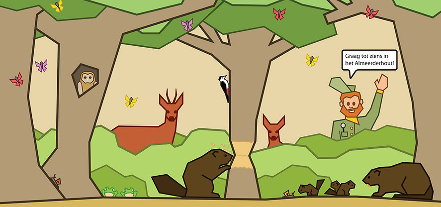Concept tekeningen beverburcht staatsbosbeheer Peerdrops