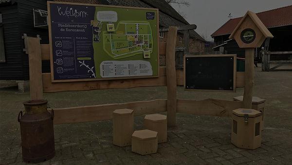Natuurcentrum Arnhem Welkomstbebording signing peerdrops natuur educatie bewegwijzering