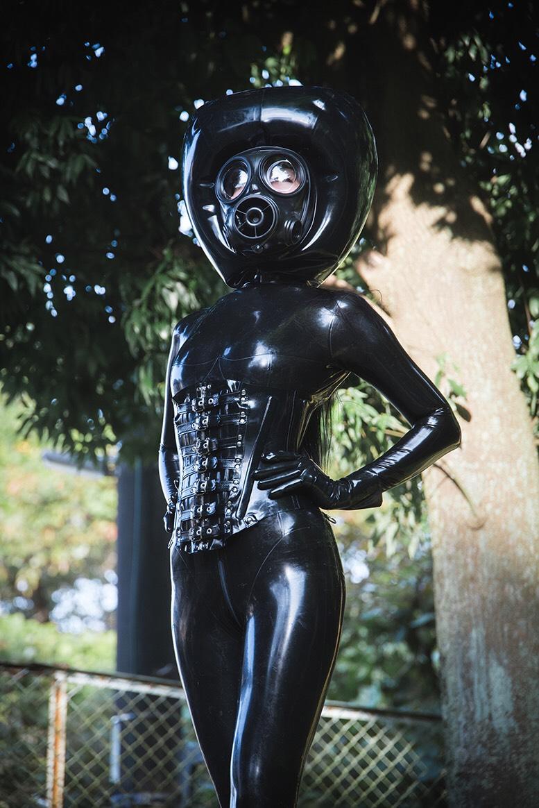 Japanese rubber Mistress Chiaki