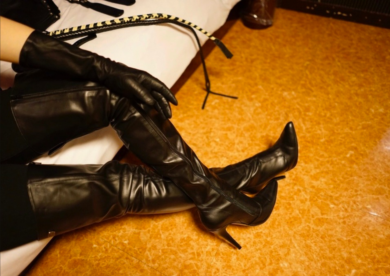 Japanese Leather Femdom