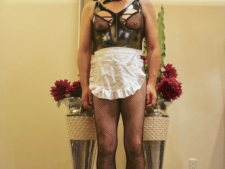Sissy Maid training session