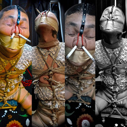 rope bondage and face torture