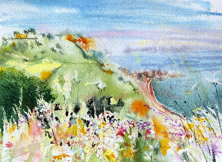 East from Salcombe Hill, Sidmouth18x25cm.jpg