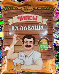 """Чипсы из лаваша """"Кавказские застолья"""" со вкусом холодец-хрен"""