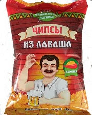 """Чипсы из лаваша """"Кавказские застолья"""" со вкусом аджики"""