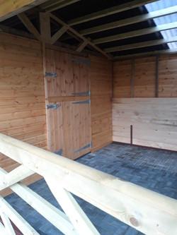 Stable unit inside hay barn