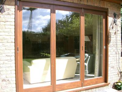 External view of bi-fold doors