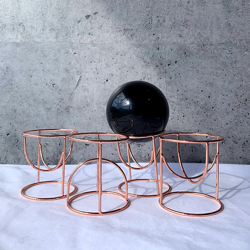 Reversible Hoop Sphere Stand | Rose Gold
