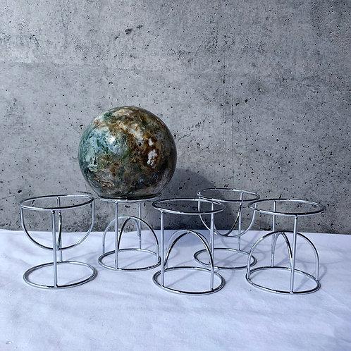 Reversible Hoop Sphere Stand | Silver