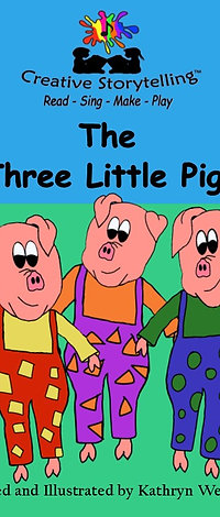 The three Little pigs -  A5 Story book