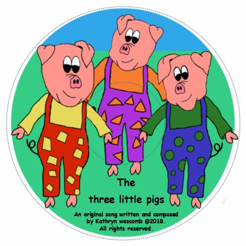 The three little pigs - Audio CD - Mp3 downloads of all songs coming soon!