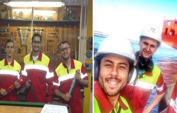 Praticantes embarcam em navios da Aliança e da Hamburg Süd para vivenciar rotina no mar