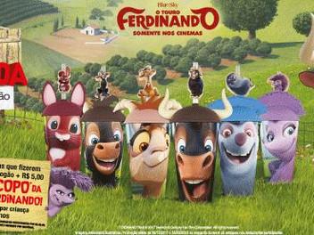 """Começa a nova campanha do Divino Fogão com copos colecionáveis de personagens do """"Touro Ferdinando"""""""