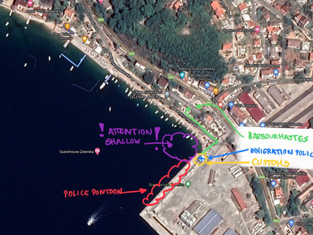 Montenegro, Zelenica - checking in