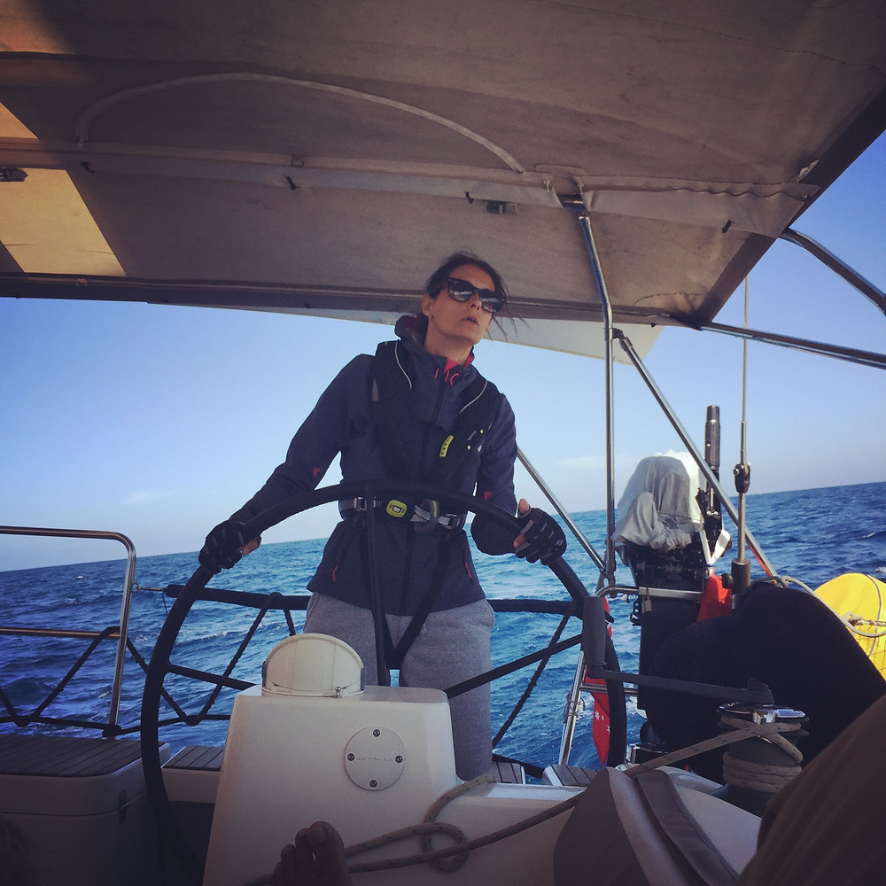 Sailing the Dream Co-captain at the helm