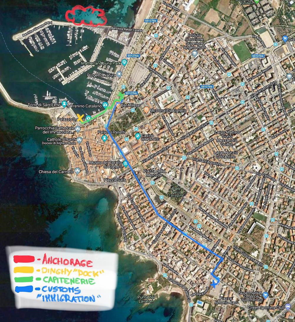 Alghero map