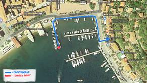 Italy, Elba, Porto Azzurro - stamping the Costituto