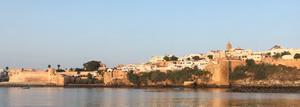 The Kasbah Des Oudaias overlooking the Bouregreg river entrance