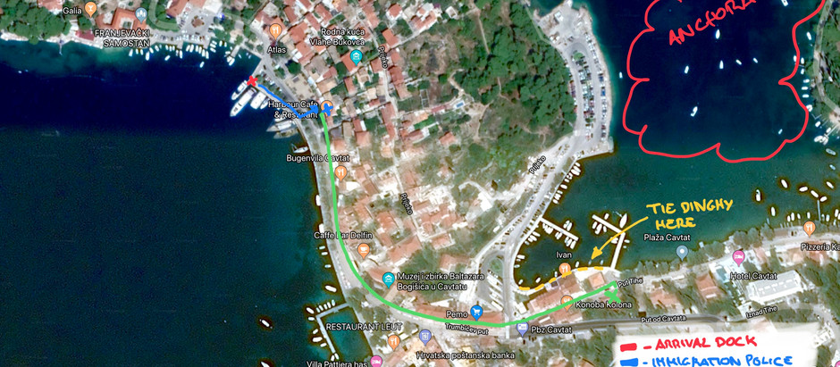 Croatia, Cavtat - check-in