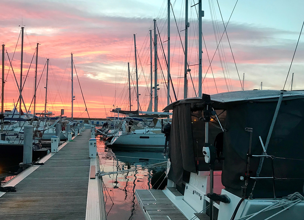 Sunset in Port Yasmine Hammamet, Tunisia