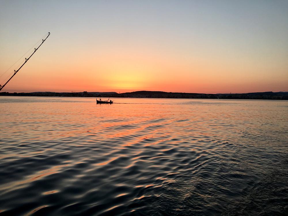 Sunrise in Alghero bay
