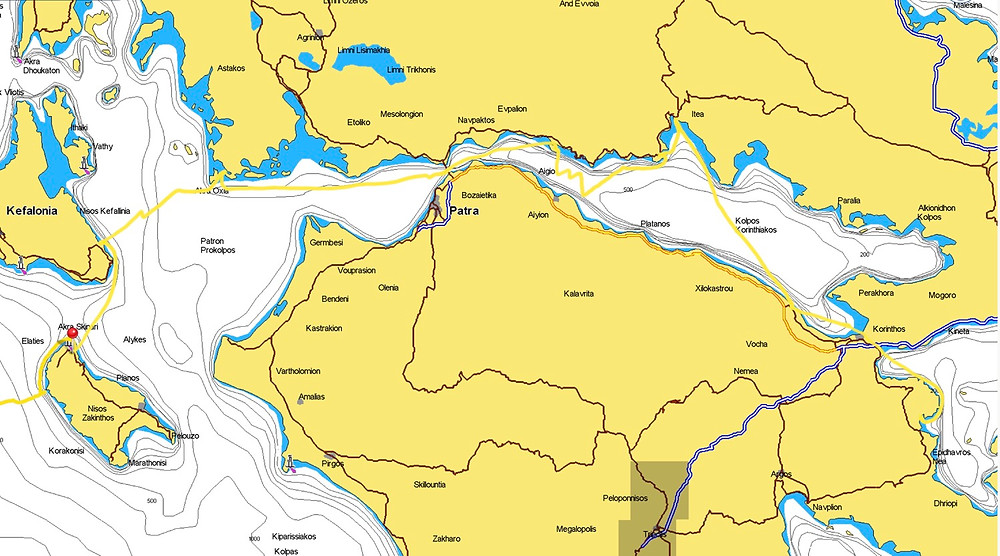 Route through the Greek Ionian