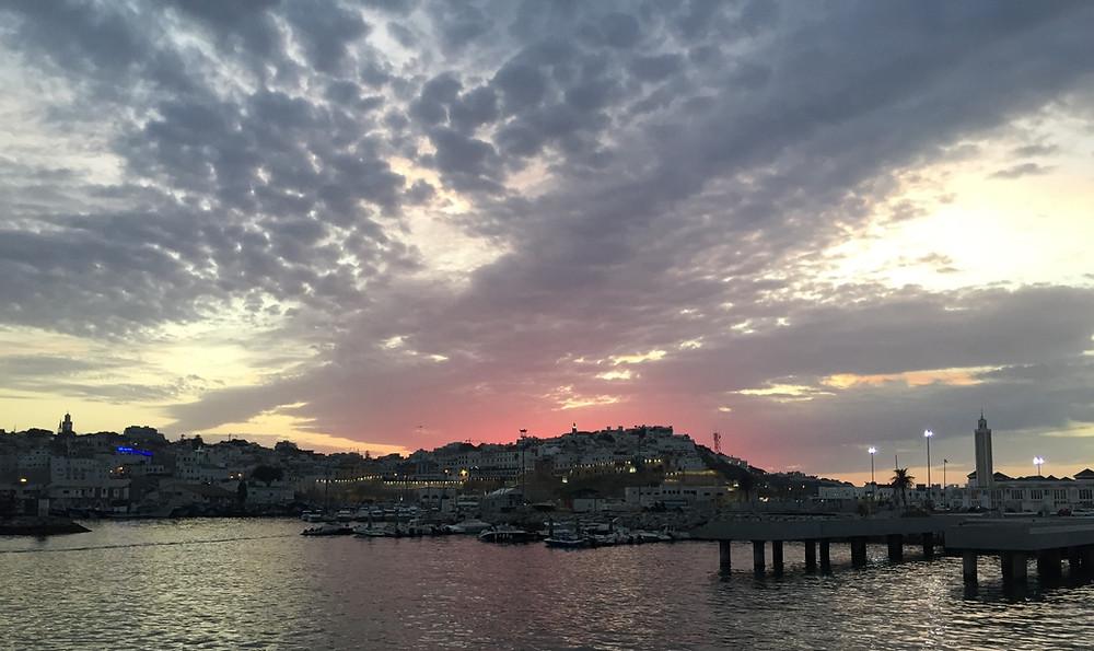 Port of Tangier - sunset