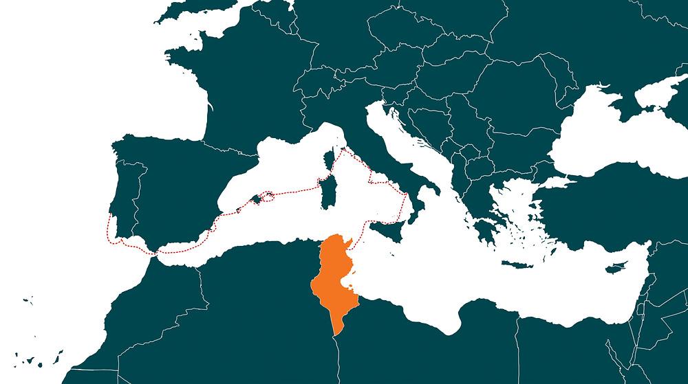 Season 1 route - Western Mediterranean Sea
