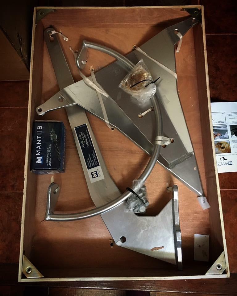 85lb Mantus anchor and swivel - delivery box