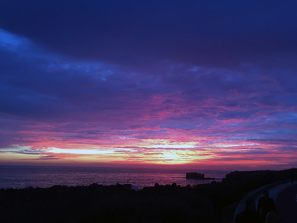 Sunset after the storm in Cascais