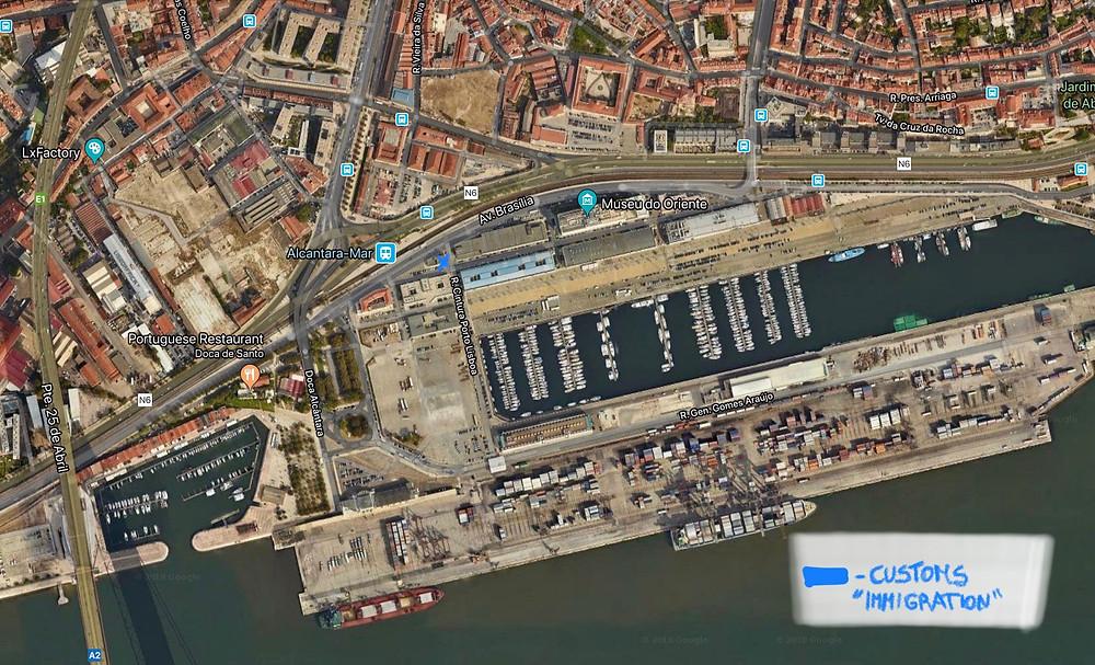 Servico de Estrangeiros e Fronteiras Lisbon harbour