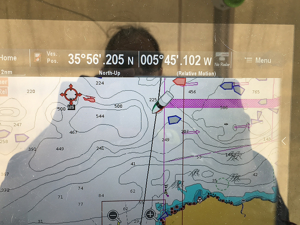 Search&rescue helicopter AIS on chart plotter