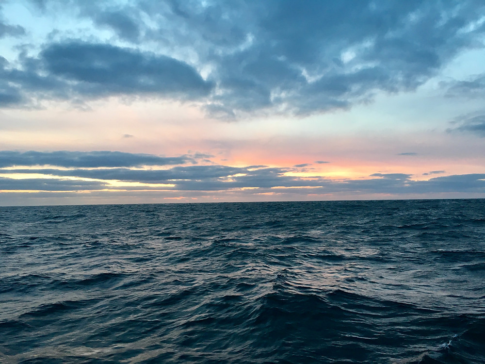 Sunset in the North Atlantic
