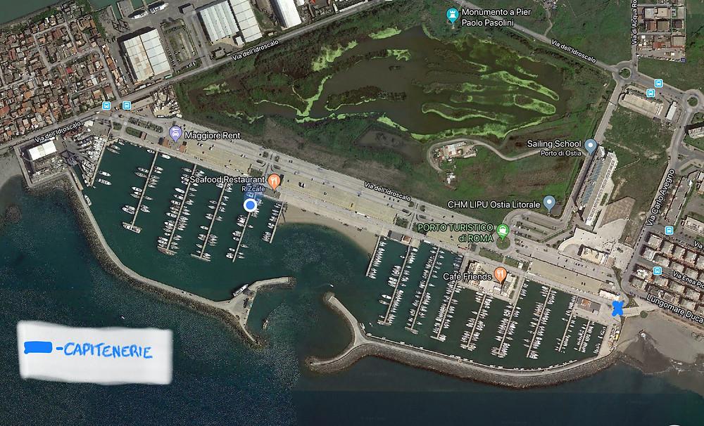 Porto Turistico di Roma map