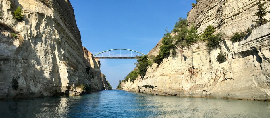 Sailing through two Engineering marvels in Greece