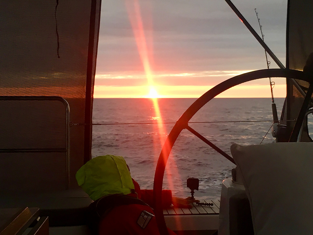 Sunset during the passage from Tunisia to Sicily
