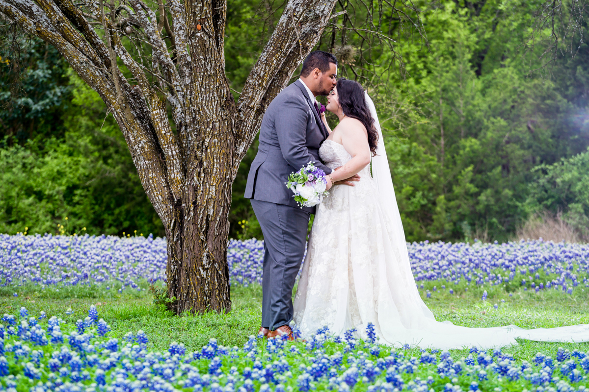 Bridal Portrait Blue bonnets