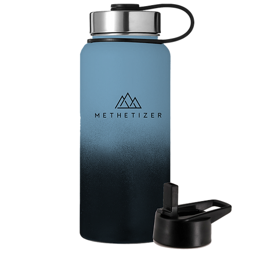 Mountain Bottle - Black and Blue