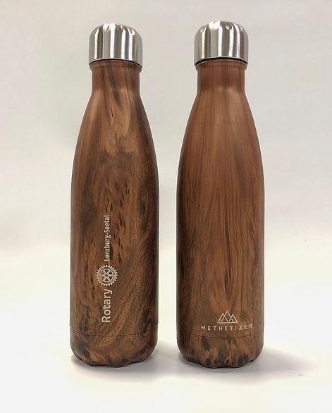 Trinkflasche Methetizer, Teakholz mit Co_Branding