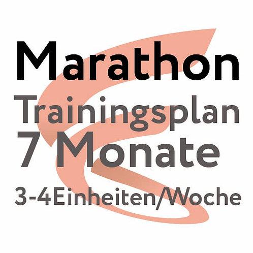 Trainingsplan Marathon / 7 Monate / 3-4 Einheiten/Woche