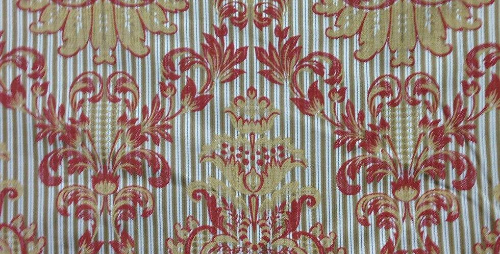 Royal Striped Damask Fabric