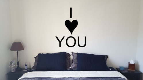 I love you wall stickers decals newcastle under lyme vinyl house u k